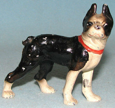 OLD antique vintage HUBLEY iron Boston terrier dog paperweight FREE SHIPPING