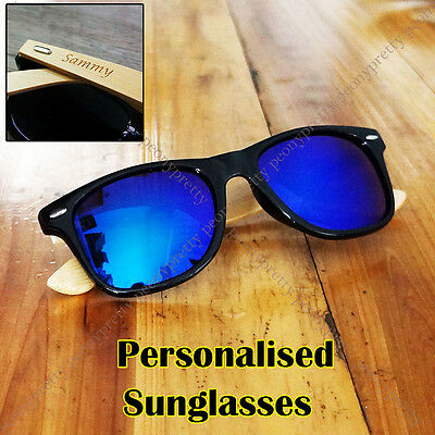 Personalised Engraving Bamboo Wood UV400 Sunglasses Groomsmen Birthday Gift