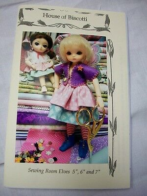 """BJD Pattern Sewing Room Elves 5"""" to 7"""" Doll"""