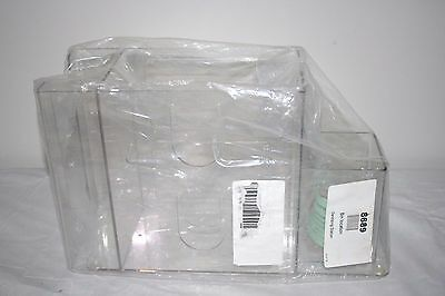 """New Clearform ML8689 Acrylic Sanitizing Station 3 Compartment 12.25"""" x 4.75""""x 8"""""""
