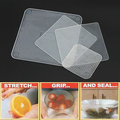 TV Re-usable Keep Food Stretch and Fresh Food Wraps Silicone Bowl Covers Wrap F0
