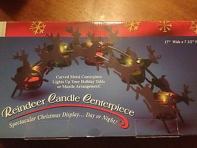 Christmas / Holiday Reindeer Candle Centerpiece Decoration