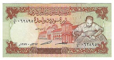 1977 Syria 1 Pound Currency Note - Near Unc - Very Nice - See Scans (V62)