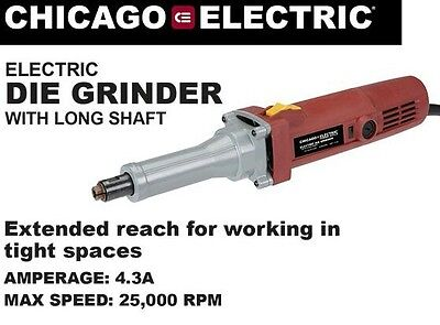 Electric 1/4 Inch Long Shaft DIE GRINDER Corded   Ball Bearing Constructio Tool