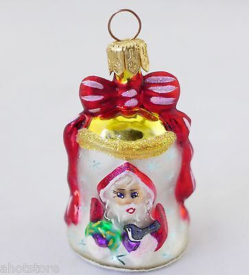 Christopher Radko Christmas Bell Ornament Little Gems with Box