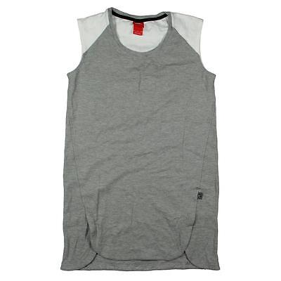 Nike 4757 Womens Gray Heathered Court T-Shirt Dress Athletic S BHFO