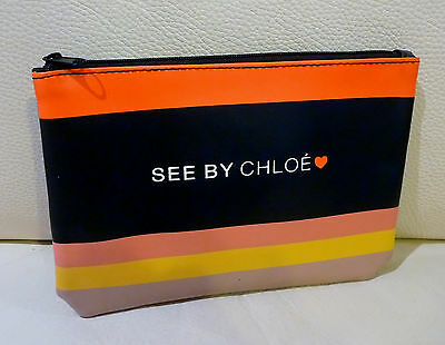 CHLOE See by Chloe Faux-Leather Makeup Cosmetics Bag, Brand NEW, 100% Genuine!!