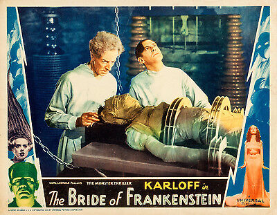 Bride of Frankenstein 11 X 14  Lobby Card LC Colin Clive