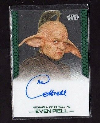 Michaela Cottrell 2015 Topps Chrome Star Wars Autograph Auto as Even Piell