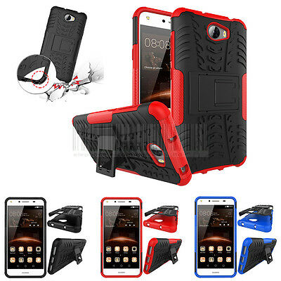 Hybrid Protective Stand Case Shockproof Cover For Huawei Y6 Elite 4G / Y5 II 2