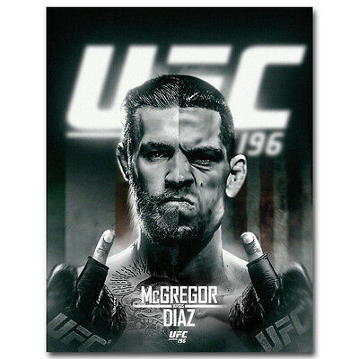 Conor Mcgregor vs Nate Diaz Art Silk Poster Print 12x18 24x36 inch