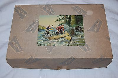 """Vintage J.K. Straus Wooden Jigsaw Puzzle, """"Trouble Bruin"""" 500 + Pcs in Box."""