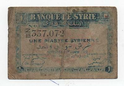 Syria Syrie 1 Piastre 1920 Pick 6 Look Scans