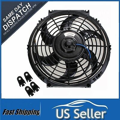 10'' Universal Car Radiator Intercooler 12V Slim Engine Cooling Fan Push Pull