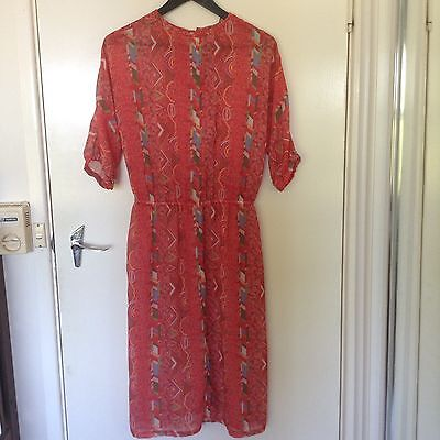 Vintage Retro Dress Size 10 Red