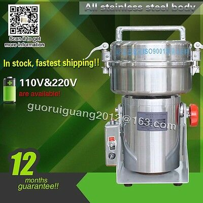 500g,DHL shipping swing small powder grinding machine,powder grinder,110V/220V