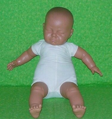 "Large 21"" Life Size Berjusa Vinyl Sleeping Baby Doll - Made in Spain"