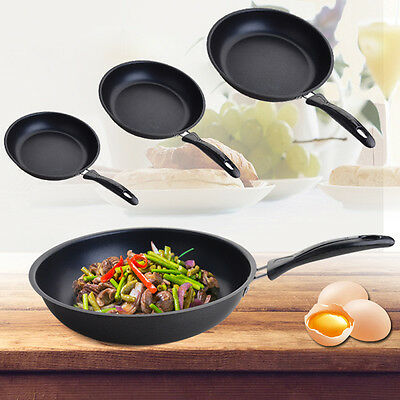 Black Kitchen Universal Cookware Induction Non Stick Cooking Pot Fry Pan 3 Size