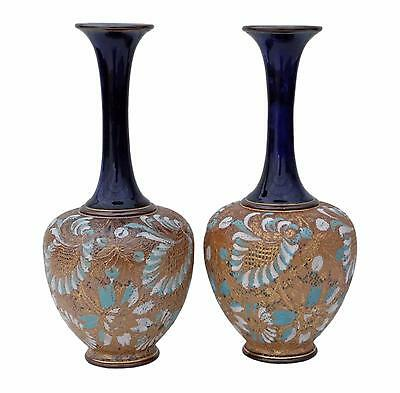 Antique pair of Royal Doulton Slater vases