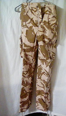 "BDU British windstop pants. Large 35"" x 49"" . Desert camo"