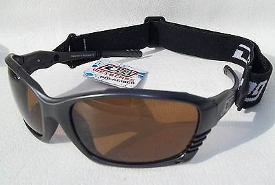 DIRTY DOG WETGLASSES POLARISED SPORTS SUNGLASSES METALLIC GREY with SPORTS STRAP
