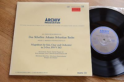 RED STEREO Bach Magnificat STADER RICHTER 10'' Archiv 195078