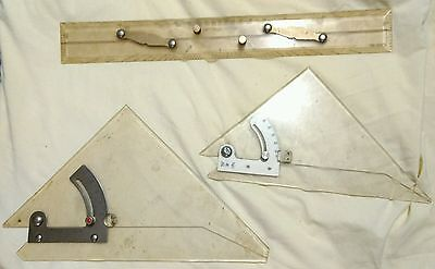 Blundell Harling 273 true angle, Capt Fields Pattern, Academy 311 set square