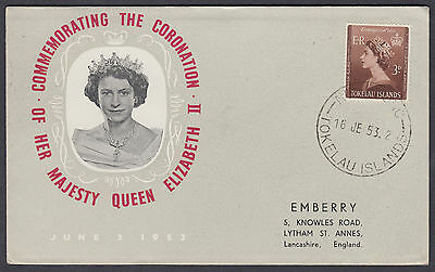1953 Tokelau Islands Coronation Illustrated FDC