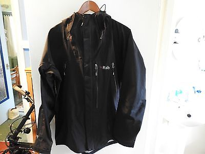 Rab Mountain Dru Jacket Black Size Large Event