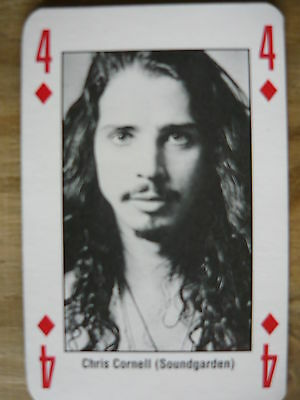 Chris Cornell (Soundgarden) - Kerrang Playing Card