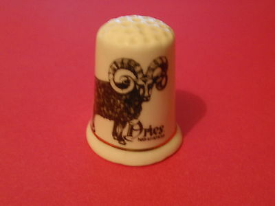 'ARIES MAR21 - APR20'  - Bone China Collector's Thimble