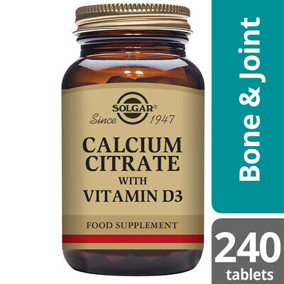 Solgar Calcium Citrate with Vitamin D3 240 tablets