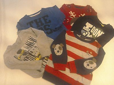 6 Baby Boys Tops Age 9_12 Months