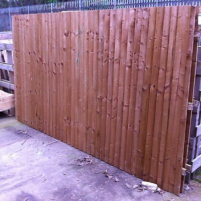 "Feather Edge Fence Panels - approx 3m x 1.66m (10'x5'6"")"