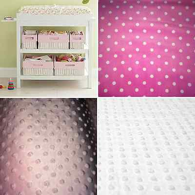 Baby pink embossed dots Minky Soft Baby change pad cover