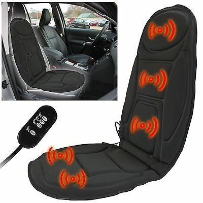 Massage Car Seat Cover Chair Back Massager Vibrate Cushion Home Relax Van Stress
