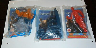 Burger King Kids Meal Toy Premium- Fantastic 4 -Lot Of 3 -New In Package