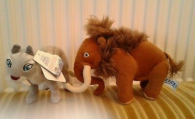 Ice Age 4 Shira With Tags and Manny Mammoth Soft Toys