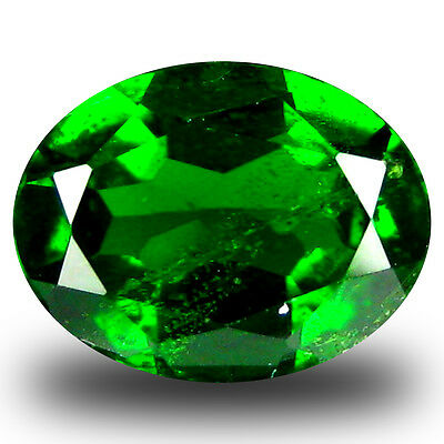 1.66 ct  Outstanding Oval Shape (9 x 7 mm) Green Chrome Diopside Gemstone