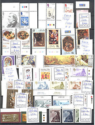 Malta 1965-2005 Selection Of Various Mnh Sets & Single Stamps