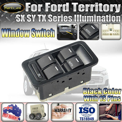 New For Ford Territory SX SY TX Master Window Switch Illuminated With LED Light