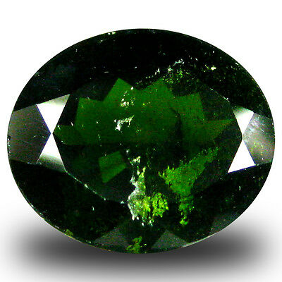 5.02 ct  Amazing Oval Shape (12 x 10 mm) Green Chrome Diopside Natural Gemstone