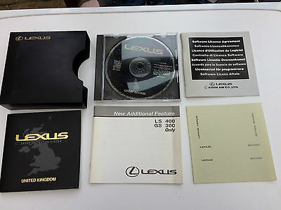 Lexus LS400 Navigation Pack inc. CD, owner's manual and other literature (1998)