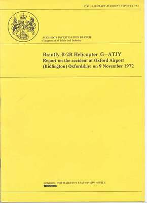 Brantly B-2B  Helicopter G-Atjy  Accident Report Oxford Airport, Kidlington 1972