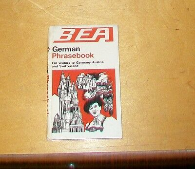 BEA GERMAN PHRASE BOOK For visitors to Germany Austria and Switzerland 1969?