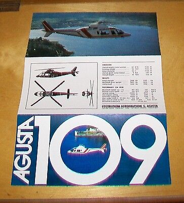 Agusta 109 Twinjet Helicopter Leaflet