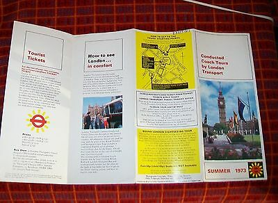 Conducted Coach Tours By London Transport Leaflet Summer 1973