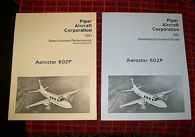 Piper Aerostar 602P Specifications/performance & Operating Economics Guide 1981