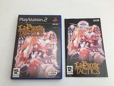 CASE & MANUAL ONLY la pucelle tactics rare PS2 CASE & MANUAL ONLY