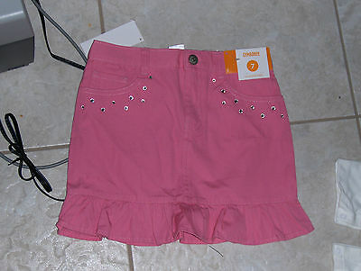 "NWT- Gymboree ""Butterfly Blossoms"" pink ruffled skirt w/adj waist - 3 girls"